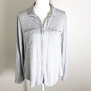 Cloth & Stone gray button down shirt